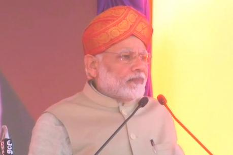 Narendra Modi addressing rally in Mysuru