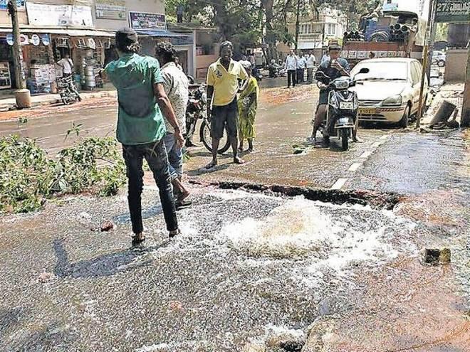 bwssb water leakage