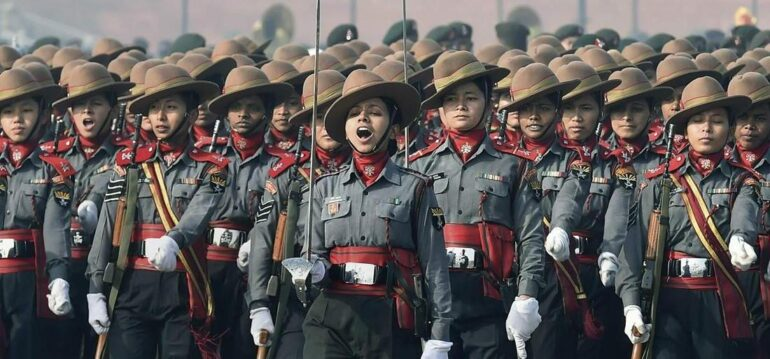 Mahila Jawans depicting India's liberalization