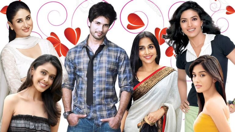 Babbles about Shahid Kapoor exes